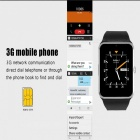 QW08 Plus 3G Android Wi-Fi -liittymä APP Bluetooth Smart Watch - musta