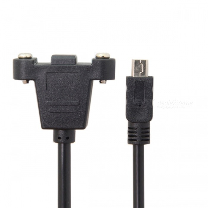 CY U2-350-0.5M Mini USB 5Pin Male to Panel Mount Type Female Cable