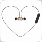 Bluetooth V4.1 Magnet Wireless In-Ear Earphone - Golden + Black