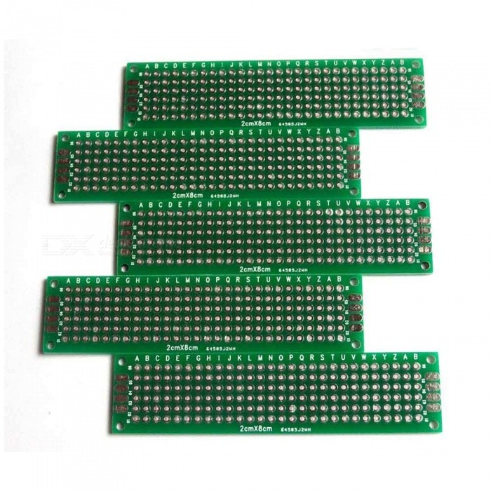 2cm x 8cm FR-4 Double Sided DIY Universal PCB Circuit Boards (5PCS)