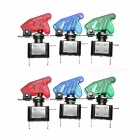 High Quality E Support Car Red LED Toggle Switches - Red, Green (6Pcs)