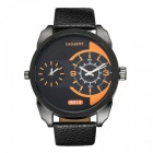 CAGARNY 6813 Fashion Leather Quartz Analog Wrist Watch - Black