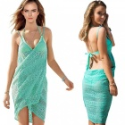 Bikini Blouse Lace Cardigan Sunscreen Beach Dress - Green