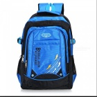 Latest Waterproof Nylon Shoulder Bag Backpack for Camping - Blue