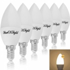 YouOKLight E12 4.5W LED Warm White Light Candle Bulbs, AC85-265V, 6PCS