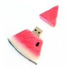 Watermelon Shaped USB 2.0 Flash Jump Drive with Neck Strap - Red(16GB)