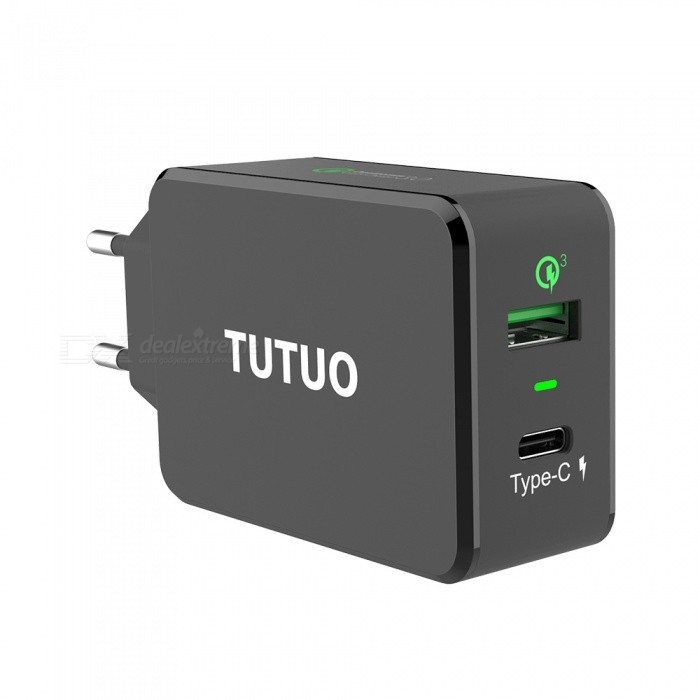 TUTUO 33W QC3.0+ Type-C Quick Charge 3.0 Wall USB Charger (EU Plug)