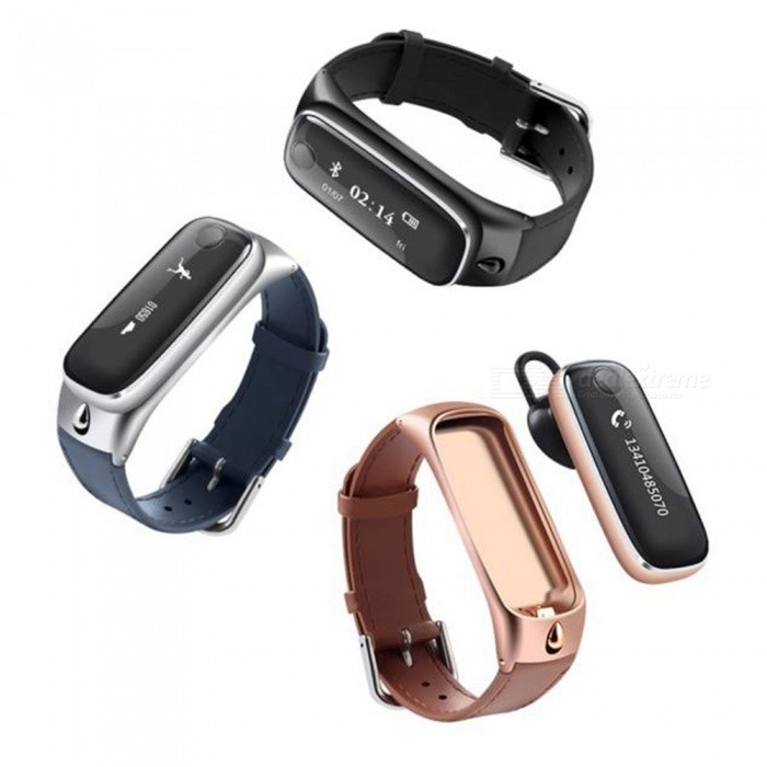m6 smart watch bracelet w bluetooth headset for ios android black free shipping dealextreme. Black Bedroom Furniture Sets. Home Design Ideas