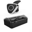 Bluetooth Stereo Earbud Headphones with Portable Charging Case -Silver