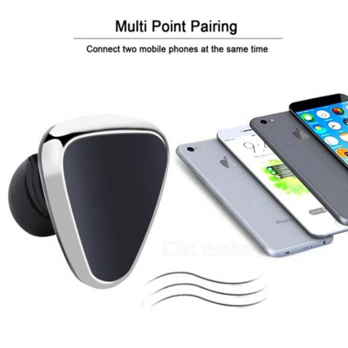 bluetooth stereo earbud headphones with portable charging case silver free. Black Bedroom Furniture Sets. Home Design Ideas