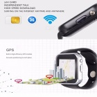 GW05 3G Wi-Fi GPS Bluetooth V4.0 Wearable Smart Phone Watch - Silver