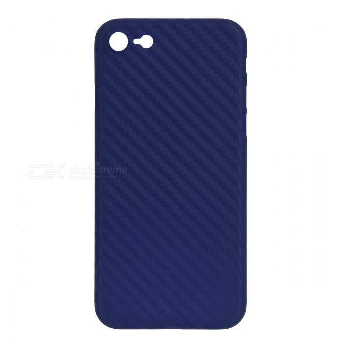 Ultra-thin PP Carbon Fiber Style Case for IPHONE 7 - Royal BluePlastic Cases<br>Form  ColorSapphire BlueQuantity1 DX.PCM.Model.AttributeModel.UnitMaterialPPCompatible ModelsiPhone 7DesignOthers,Carbon fiberStyleBack CasesPacking List1 x PP back case<br>