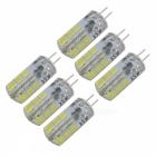 SZFC 6Pcs G4 3W Cold White Light Silicone Bulbs for Indoor Lighting