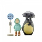 Hand DIY Classic Raincoats Raincoats Petits parapluies à prunes Pot novice Potted Landscape Dolls (3Pcs / Set)