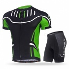 NUCKILY Cycling Short-Sleeved Suits for Men / Women - Green (L)