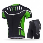 NUCKILY Cycling Short-Sleeved Suits for Men / Women - Green (XL)