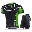 NUCKILY Cycling Short-Sleeved Suits for Men / Women - Green (XXL)