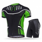 NUCKILY Cycling Short-Sleeved Suits for Men / Women - Green (XXXL)