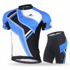 NUCKILY Summer Outdoor Cycling Short-Sleeved Men's Suits - Blue (L)