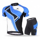 NUCKILY Summer Outdoor Cycling Short-Sleeved Men's Suits - Blue (XXL)