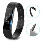 ID115 Touch Screen Fitness Tracker Watch Smart Bracelet - Black
