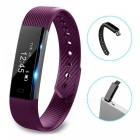 ID115 Touch Screen Fitness Tracker Watch Smart Bracelet - Purple