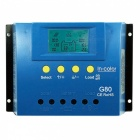IN-COLOR 12V / 24V 80A LCD Display PWM Solar Ladegerät - Blau