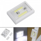 Multi-function COB Switch Wall Night Light Emergency Lamp - White