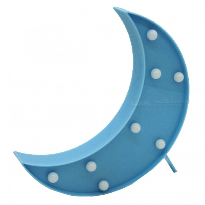 Crescent Shaped 3W LED Dekorativa Night Light bordslampa - Blå