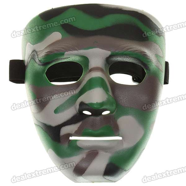 Environmental-Friendly Non-Toxic Camouflage Mask with a Elastic Strap (Color Assorted)