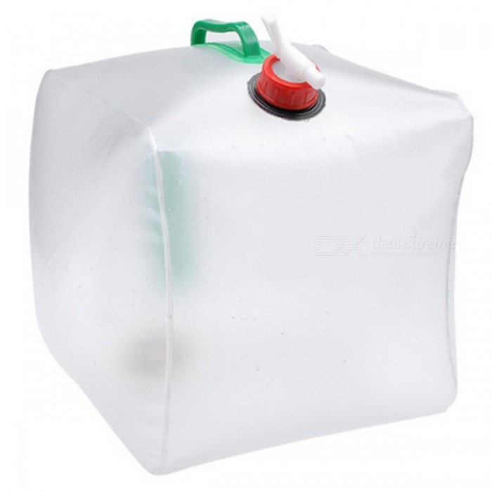 Creative Outdoor Camping Plastic Water Tank - White (10L)