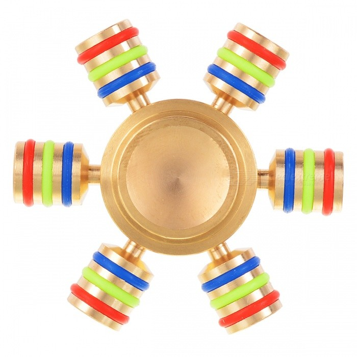 BLCR Tri-Spinner Fidget EDC Hand Spinner for Autism and ADHD - GoldenFinger Toys<br>Form  ColorGolden + MulticoloredMaterialStainless steelQuantity1 DX.PCM.Model.AttributeModel.UnitSuitable Age 8-11 years,12-15 years,Grown upsPacking List1 x Fidget spinner<br>