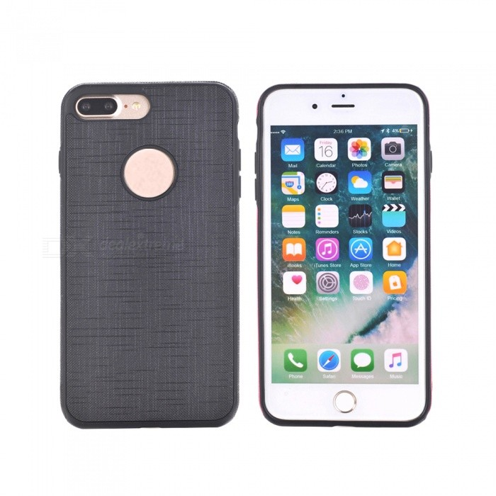 Silkwood Pattern Protector TPU Back Case pour IPHONE 7 PLUS - Noir