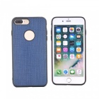 Silkwood Pattern Protective TPU Back Case for IPHONE 7 PLUS - Blue