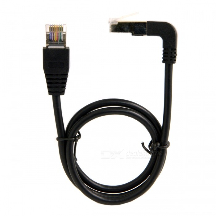 CY UT-009-UP-0.5M Up Angled 8P8C STP Cat Lan Ethernet Network Cable