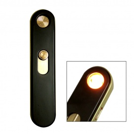 Dayspirit USB Rechargeable Windproof Electronic Lighter - Black + Gold