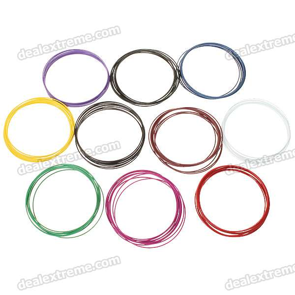 Multi Color Circle Metal Bracelets - 6.8cm (About 100-Piece Pack)