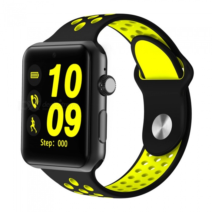 DM09 Plus Waterproof 1.54 Bluetooth V4.0 Smart Watch - YellowSmart Watches<br>Form  ColorBlack + YellowQuantity1 setMaterialABSShade Of ColorBlackCPU ProcessorMTK2502C-ARM7Screen Size1.54 inchScreen Resolution240 *240Touch Screen TypeYesBluetooth VersionBluetooth V4.0Compatible OSSupport ios7 and above and Androld4.3 or laterLanguageEnglishWristband Length25.8 cmWater-proofNoBattery ModeNon-removableBattery TypeLi-polymer batteryBattery Capacity320 mAhStandby Time144 hoursPacking List1 x Watch 1 x Charger cable<br>