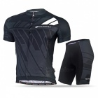 NUCKILY Cycling Short-Sleeved Suits for Men / Women - Gray (XXL)