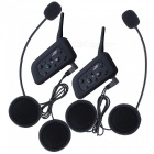 1200m 6 Reiter Motorrad-Sturzhelm Bluetooth Interphone (US-Stecker / 4PCS)