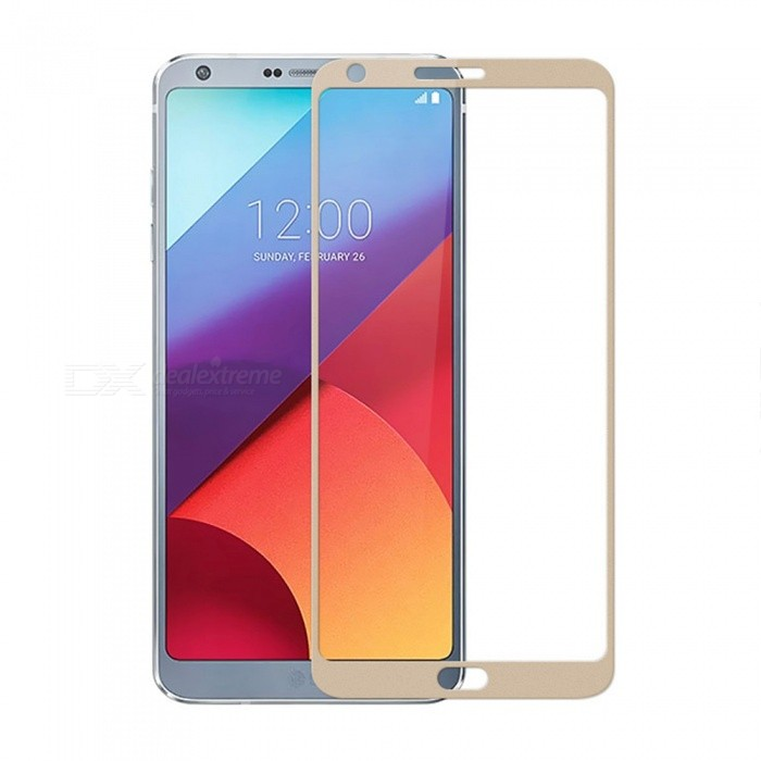 Dazzle Colour Full Screen Protector Tempered Glass for LG G6 - Golden