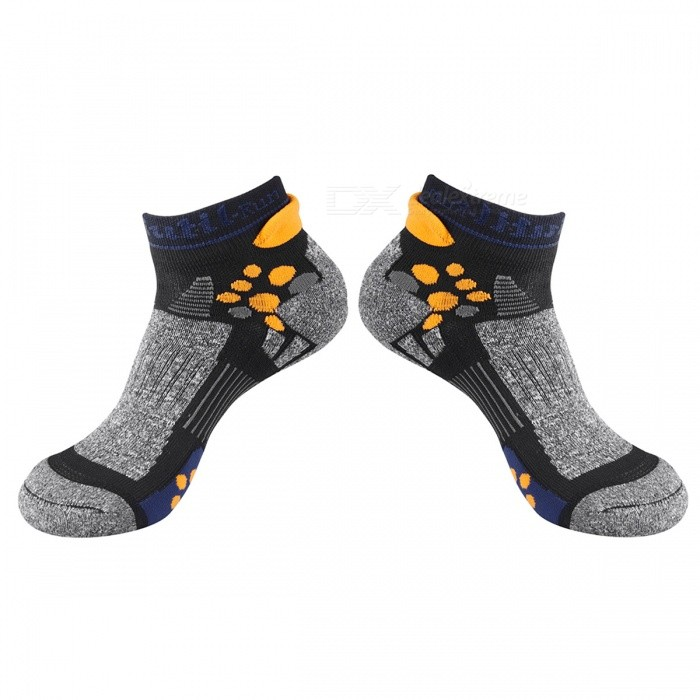 CAXA Unisex Breathable Quick Dry Socks for Sports - GreySocks and Leg wear<br>Form  ColorGrey + Multi-colorModel16302Quantity1 setShade Of ColorGrayMaterial40% cotton, 35% polyester fiber, 23% gold, 2% spandexStyleFashionSock Length of Foot28 cmSock Girth of Foot26 cmSock Length of Leg10 cmPacking List1 x Pair of socks<br>