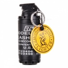 Creative Grenade Shaped Metal Butane Gas Lighter - Black