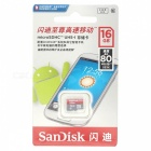 SanDisk Ultra 16GB UHS-I/Class 10 Micro SDHC Memory Card 80MB/S