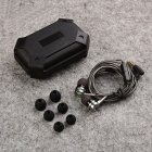 Eastor DM9 HiFi Stereoanlage Bass Metall In-Ear Wired Kopfhörer mit Mic-silbern