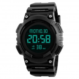 SKMEI 1248 50m Waterproof Men's Digital Sports Watch - Black