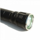ZHAOYAO M6 Waterproof Tactical L2 Cold White Light Flashlight - Black