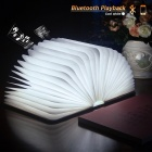 LED Book Lamp Bluetooth Play Music USB Rechargeable Wood Folding Lamp