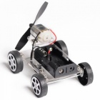 Käsintehty DIY Mini Wind Car Educational Toy (2 x AA-paristoa)
