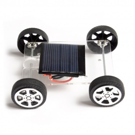 Handmade DIY Solar Powered Electric Car Educational Toy